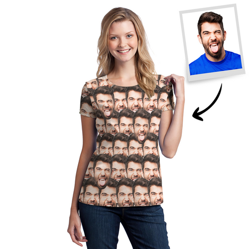 Custom Face Mash T-shirt