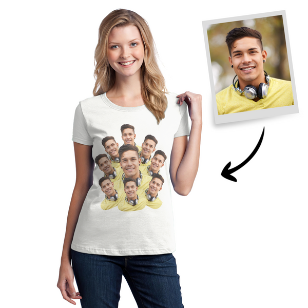 Custom Faces Mash Funny T-shirt for Men and Women