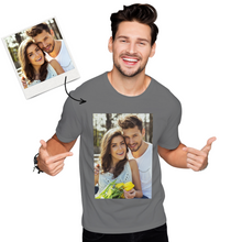 Independence Day Custom Photo Men's Cotton T-shirt Short Sleeve T-shirt