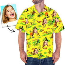 Custom Face Shirt Men's Hawaiian Surfing