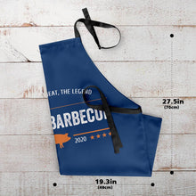 Custom Text Adjustable Bib Apron For Kitchen Cooking Restaurant BBQ Painting Crafting Blue