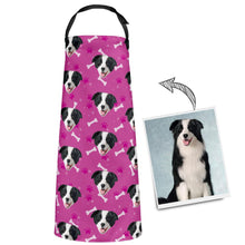 Custom Apron Dog Photo Personalised Kitchen Apron