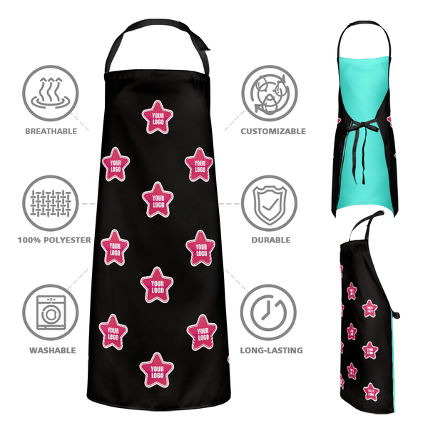 Custom Kitchen Apron With your Personalized Logo - Star