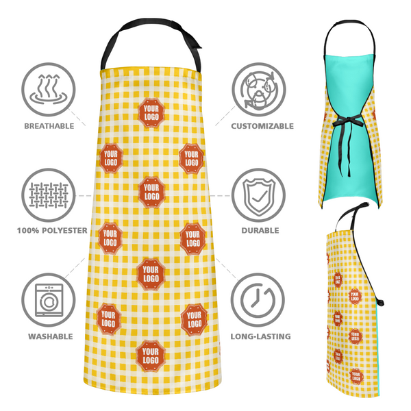 Custom Kitchen Apron With your Personalized Logo - Lattice Element