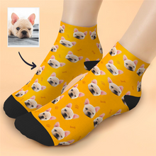 Custom Cute dog Face Ankle Socks