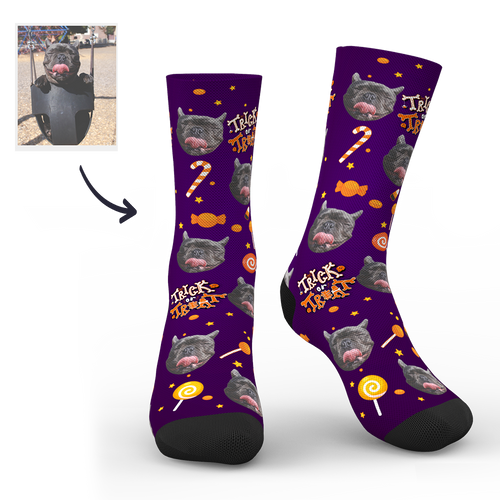 Halloween Custom Cute Dog Socks