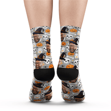 Halloween Custom Fun Photo Face Socks