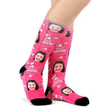 Custom Best Mom Photo Socks