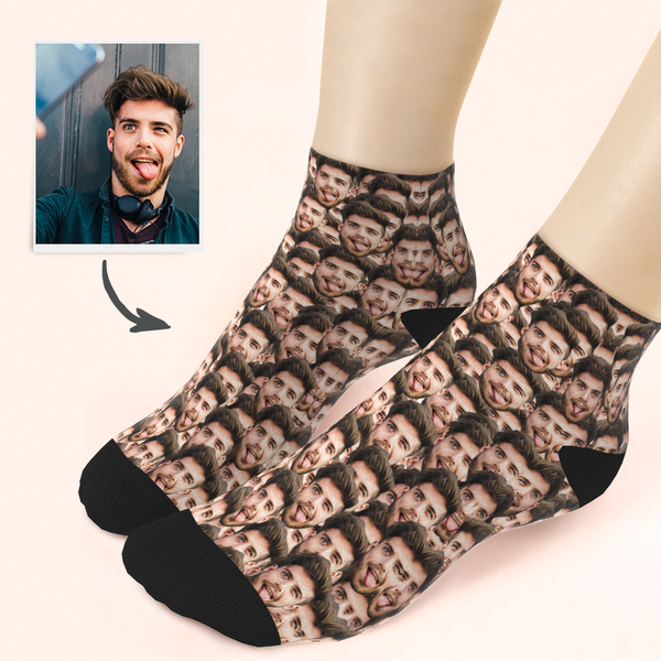 Custom Boyfriend Face Ankle Socks