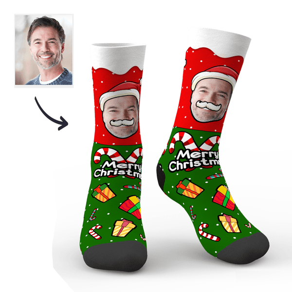 Custom Christmas Gift Photo Socks