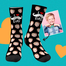 I Love Dad Custom Face Socks