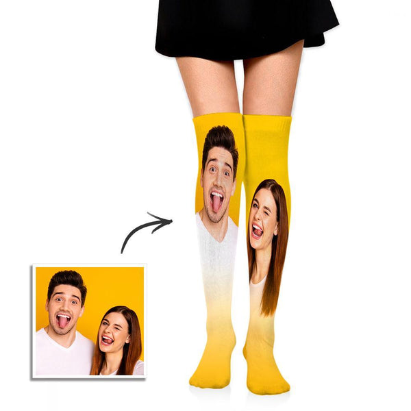 Personalized Socks Knee High Printed Picture Custom Photo Gift