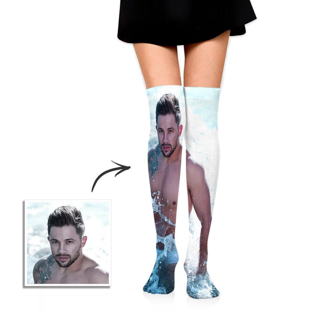 Personalized Photo Socks Knee High Printed
