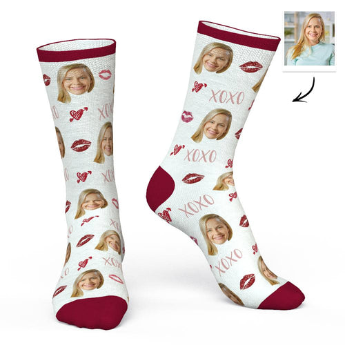 Custom Face Socks Personalized Photo Socks Lips