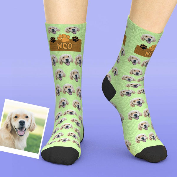 Custom Photo Socks With Photo Love Dog Personalized Novelty Socks