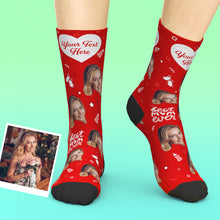 Custom Mom Photo Socks With Text Mother's Day Gifts
