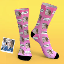 Custom Photo Socks With Dialog Gradient Elements