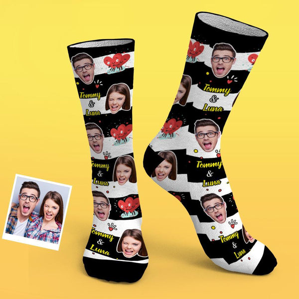 Custom Photo Socks Be Mine Couple Socks