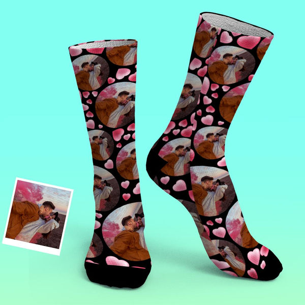 Custom Photo Socks Adorable Fun Printed Heart Socks Gift