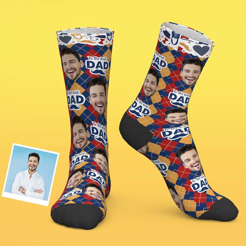 Custom Photo Socks To The Best Dad
