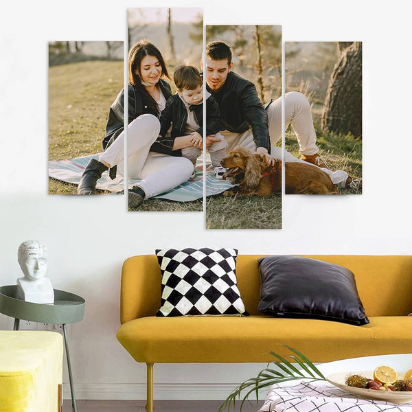 Custom Photo 4 pcs Contemporary Canvas Prints  Gifts For Family
