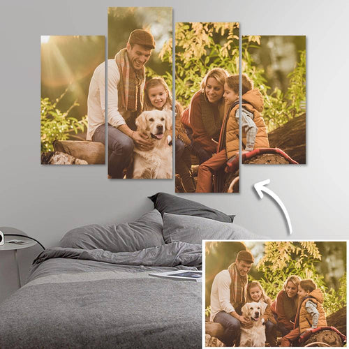 Custom Photo 4 pcs Contemporary Canvas Prints Gifts