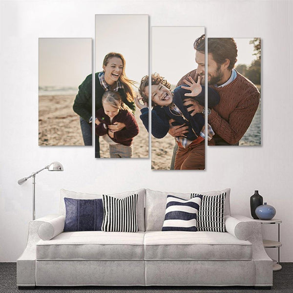 Custom Photo 4 pcs Contemporary Canvas Prints