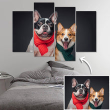 Custom Cute Pet Photo 4 pcs Contemporary Canvas Prints Gifts