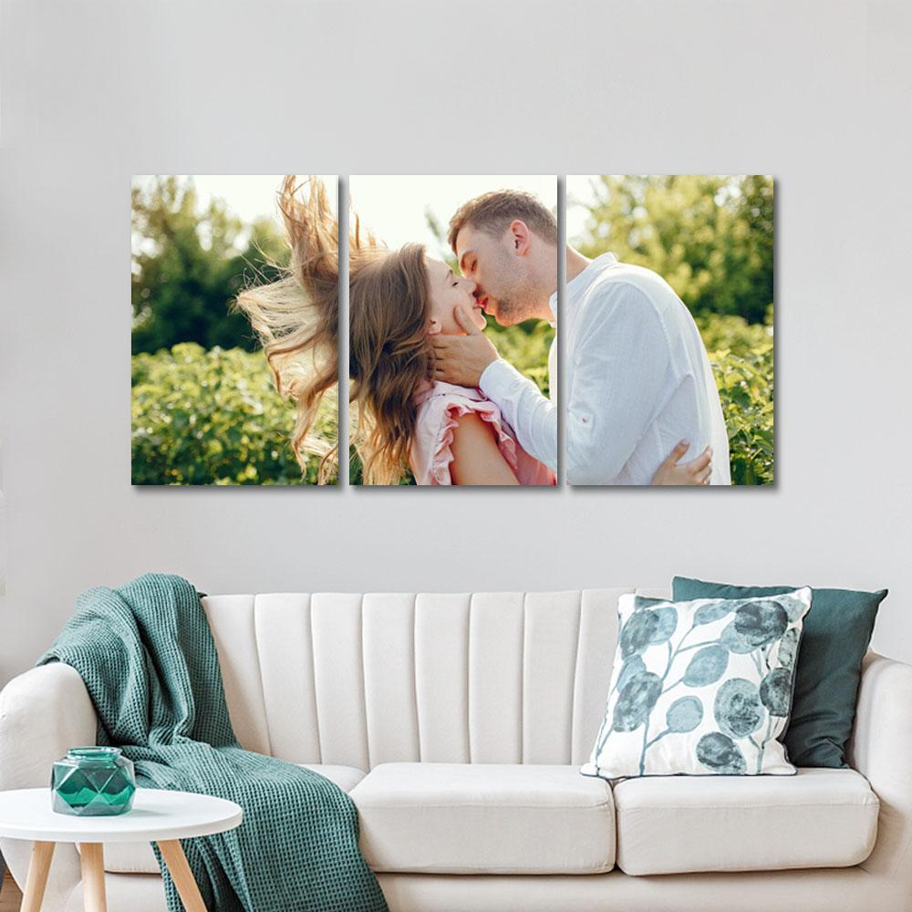 Personalized Photo 3pcs Contemporary Wall Art Canvas Prints Home Decoration