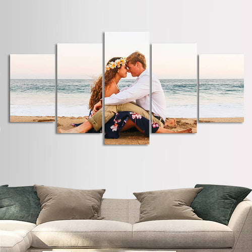 Custom Painting 5pcs Contemporary Canvas Prints Home Decoration