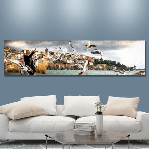 Custom Photo Canvas Prints Family Gifts 120*30cm