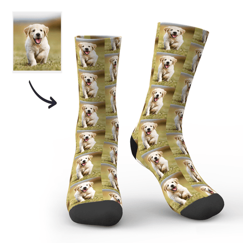 Custom My Cute Dog Face sock