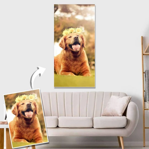 Custom Cute Pet Photo Canvas Prints Gifts-11.80