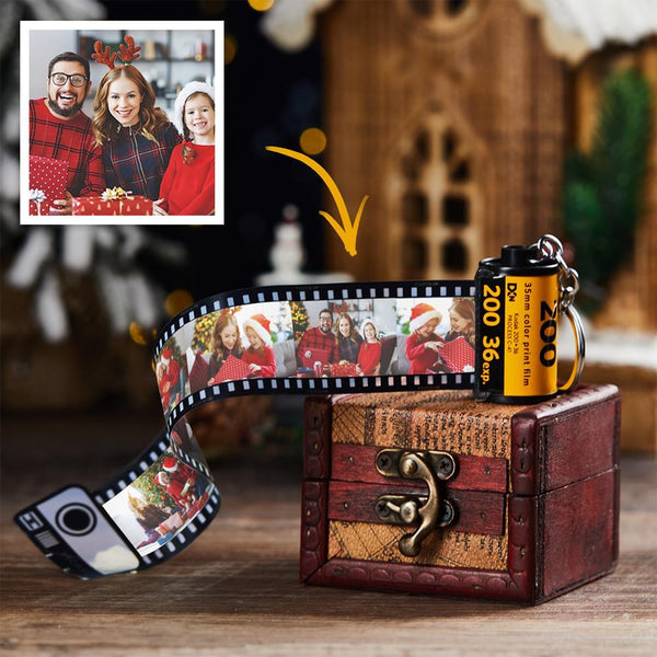 Custom Photo Film Roll Personalized Picture Roll Keychain Gift