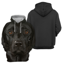 Unisex 3D Graphic Dog Hoodies - Black Labrador