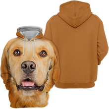 Unisex 3D Graphic Dog Hoodies - Golden Retriever