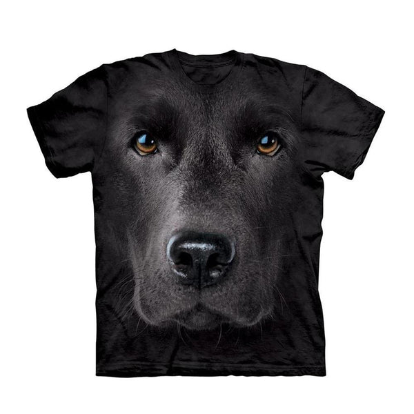 Unisex 3D Graphic Dog T-Shirt - Black Labrador