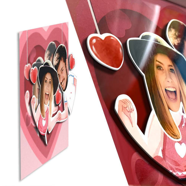 BEST GIFTS-Perfect Gift Custom Photo Frame Home Decoration Stereoscopic