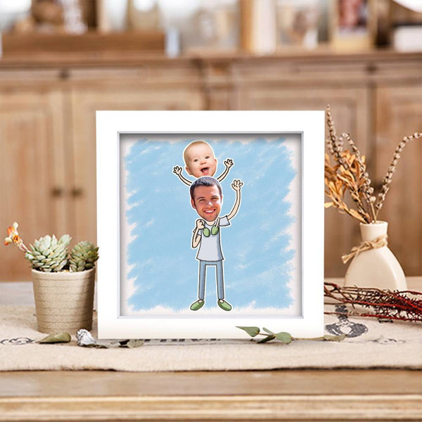 BEST GIFTS-Personalized Father's Love Photo Frame Home Decoration Stereoscopic