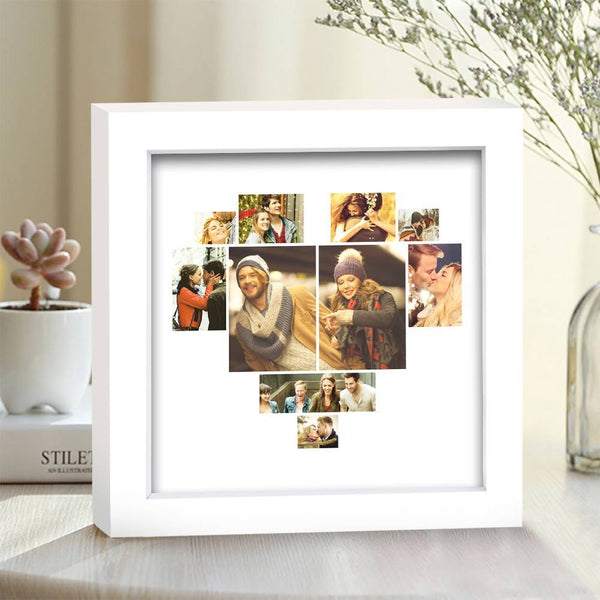 BEST GIFTS-Personalized Photo Frame 10 Pictures with Heart Shaped Simple Style