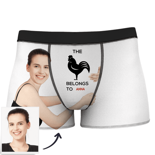 Custom Girlfriends Love Hug Stripe Boxer Shorts With Text