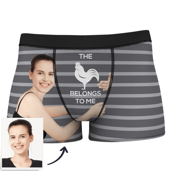 Custom Girlfriends Love Hug Stripe Boxer Shorts