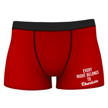 Custom Every Night Belongs To Girlfriend Name Boxer Shorts