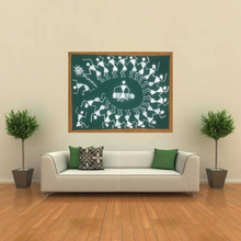 Load image into Gallery viewer, Warli Art 8x6 Inch Dhol Nach WL024