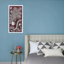 Load image into Gallery viewer, Warli Art 7x13 Inch Peacock & Birds WL005