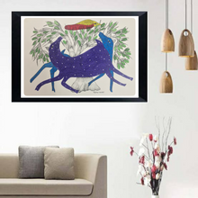 Load image into Gallery viewer, Gond Art 15x11 Inch Animals & Bird GD022