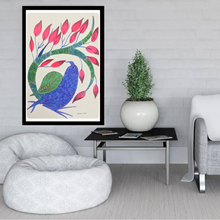 Load image into Gallery viewer, Gond Art 15x11 Inch Bird GD030