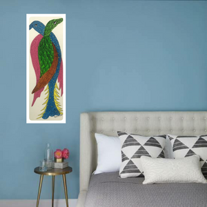 Gond Art 14x5 Inch Birds GD051