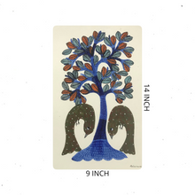 Load image into Gallery viewer, Gond Art 14x9 Inch Tree GD056