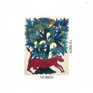 Gond Art 13x10 Inch Animals GD068